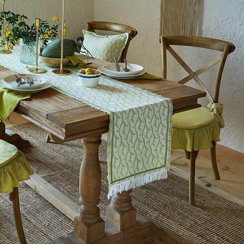European Simple Green Pattern Table Runner Countryside Advanced Yarn Dyed  Cotton Tablerunner 01 Table Runner Size Table Runner Wedding From Aldrichy,  ...