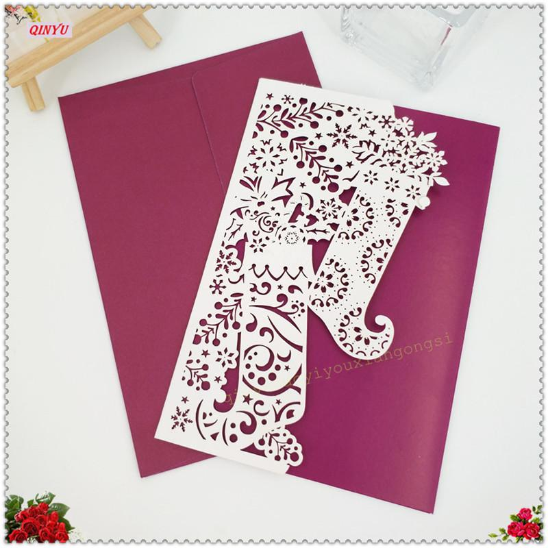 18*12cm Hollow Laser Cut Marriage Invitation Cards Business Wedding ...
