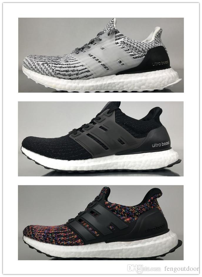 6a6bc82f1f4db 2019 2018 New Ultra Boost 3.0 4.0 Triple Black And White Primeknit Oreo CNY  Blue Grey Mens Women Running Shoes Ultraboost Sport Sneaker 36 45 From ...