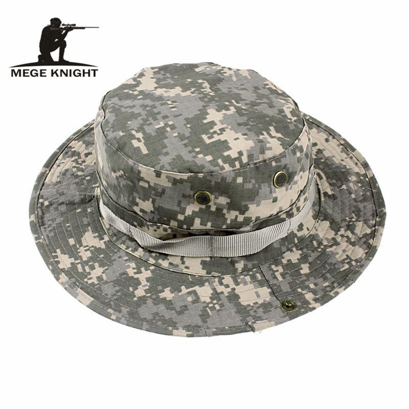 MEGE Summer Bucket Hats, Airsoft Sniper Camouflage Hats, Tactical Paintball Boonie Hats, Outdoor Caps Factory Direct Sale, Free Size 59-60cm
