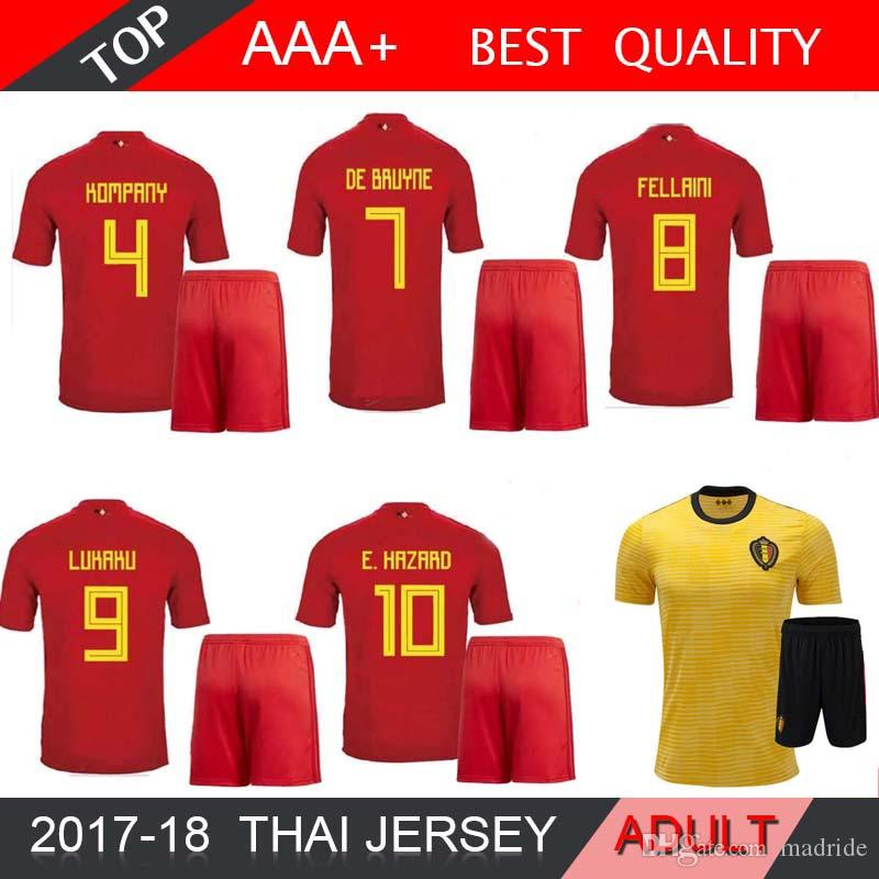 349bbf2e003 2018 World Cup Belgium Soccer Jersey Home Away Red Football Kits 18 ...