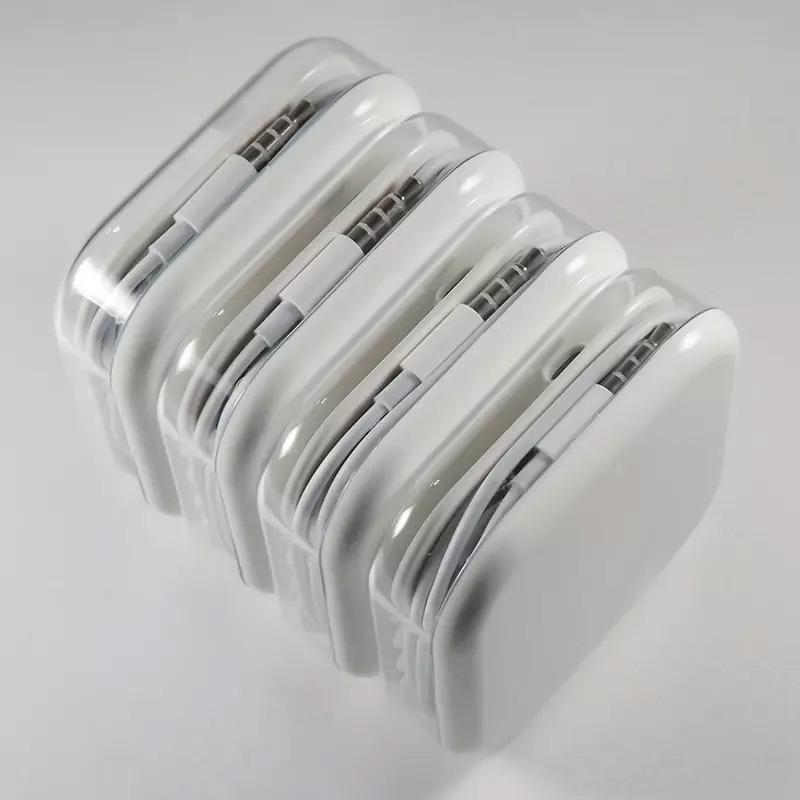 100% de prueba Auriculares AAA de 3,5 mm Auriculares estéreo con oreja y micrófono Control de volumen Auricular para i 5 6 7 Plus Samsung S4 S5 iPhone Android MQ200