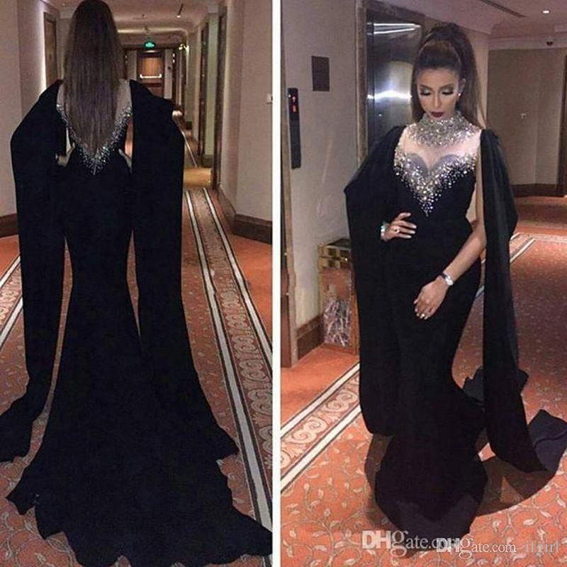 Acheter 2019 Robes De Soirée Dubai Caftan Robe De Soirée Noire Saoudienne  Robe De Bal Musulmane Robes De  170.6 Du Ifgirl  2e6b79140b7
