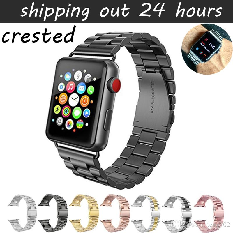 38656fc89 Sport Strap For Apple Watch Band 38mm 42mm Iwatch 3 2 1 Stainless Steel  Wrist Band Link Bracelet Watch Band Strap Watches With Leather Strap Watch  Strap ...