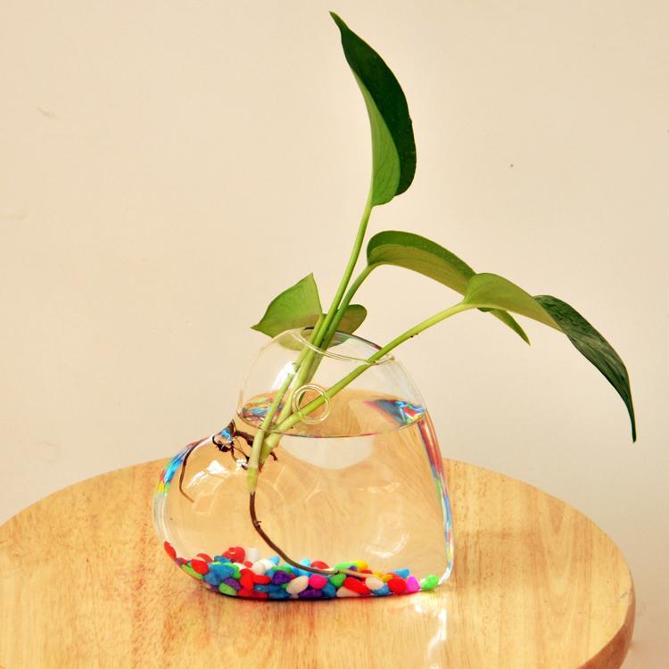 Heart Shaped Hanging Glass Vase Hanging Vase Hydroponic Wedding Home