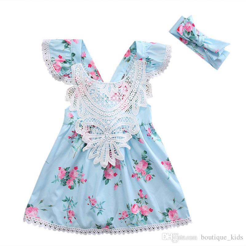 39f0c9b78 Hot Girls Dresses Flower Floral Sleeveless Princess Lace Baby Dress ...