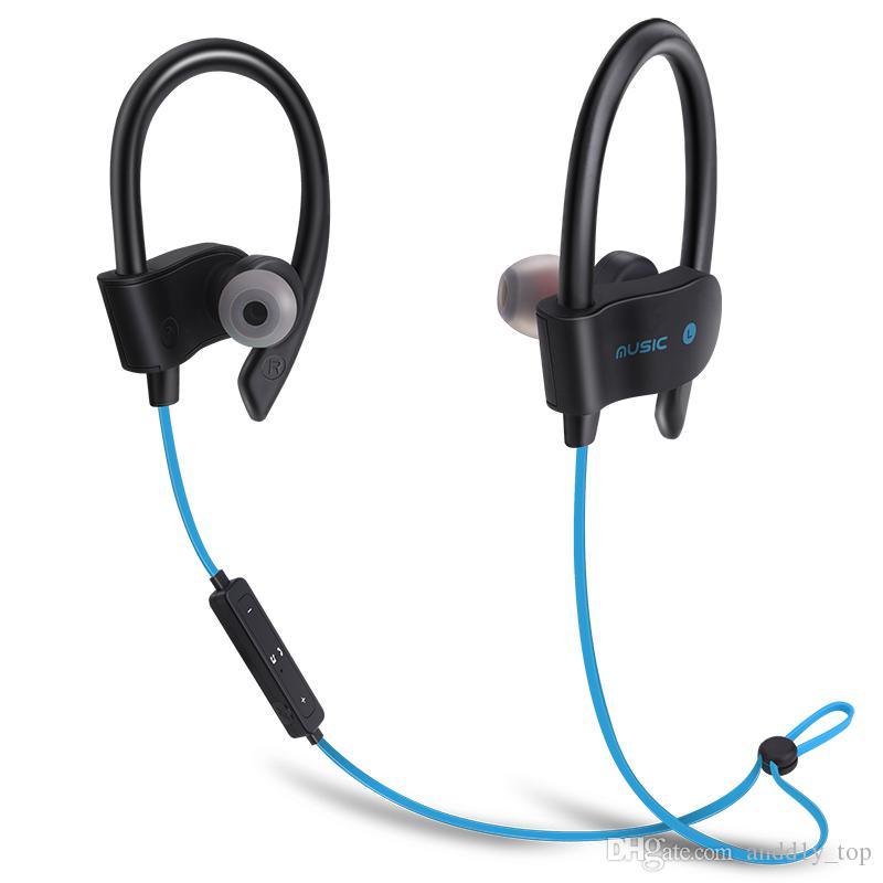 56S Auriculares inalámbricos Bluetooth Estéreo Bass Auriculares Auriculares deportivos Gancho para la oreja Auriculares Auriculares impermeables con micrófono