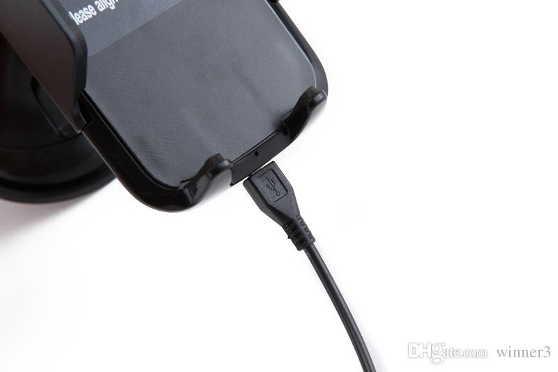 Pour Iphone X Fast Chargeur de véhicule sans fil Chargeur de voiture rapide Qi Dock de chargement sans fil pour Samsung Galaxy S7 bord S8 plus note8 avec paquet