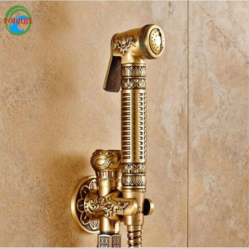 2019 Antique Brass Toilet Sprayer Tap Single Hole Bathroom Mop