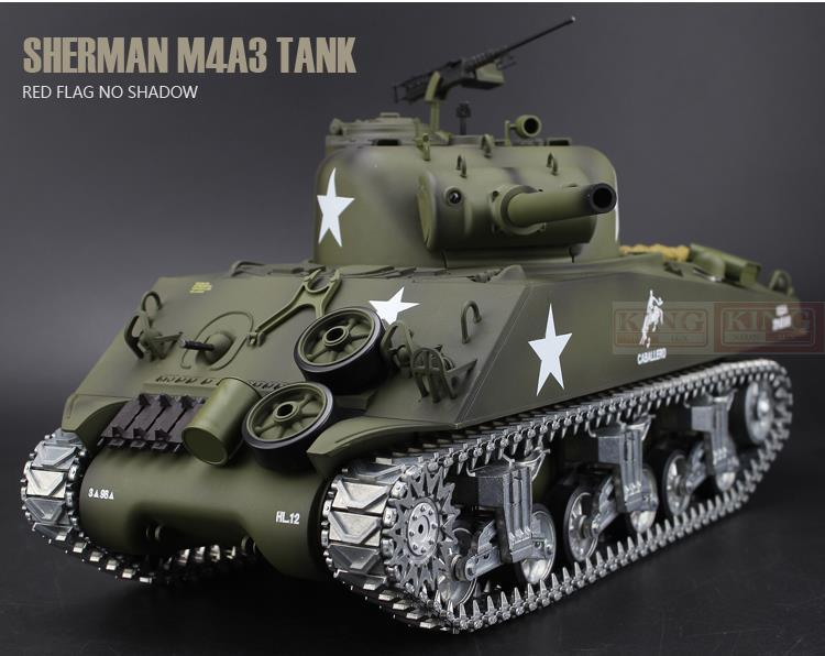 4476d1bec881 Henglong 1 16 Scale 2.4GHz RC Tank Sherman M4A3 Battle Tank U.S.Army  Ultimate Metal Version Smoke Sound Metal Gear Tracks Fast Rc Cars For Sale  Remote ...
