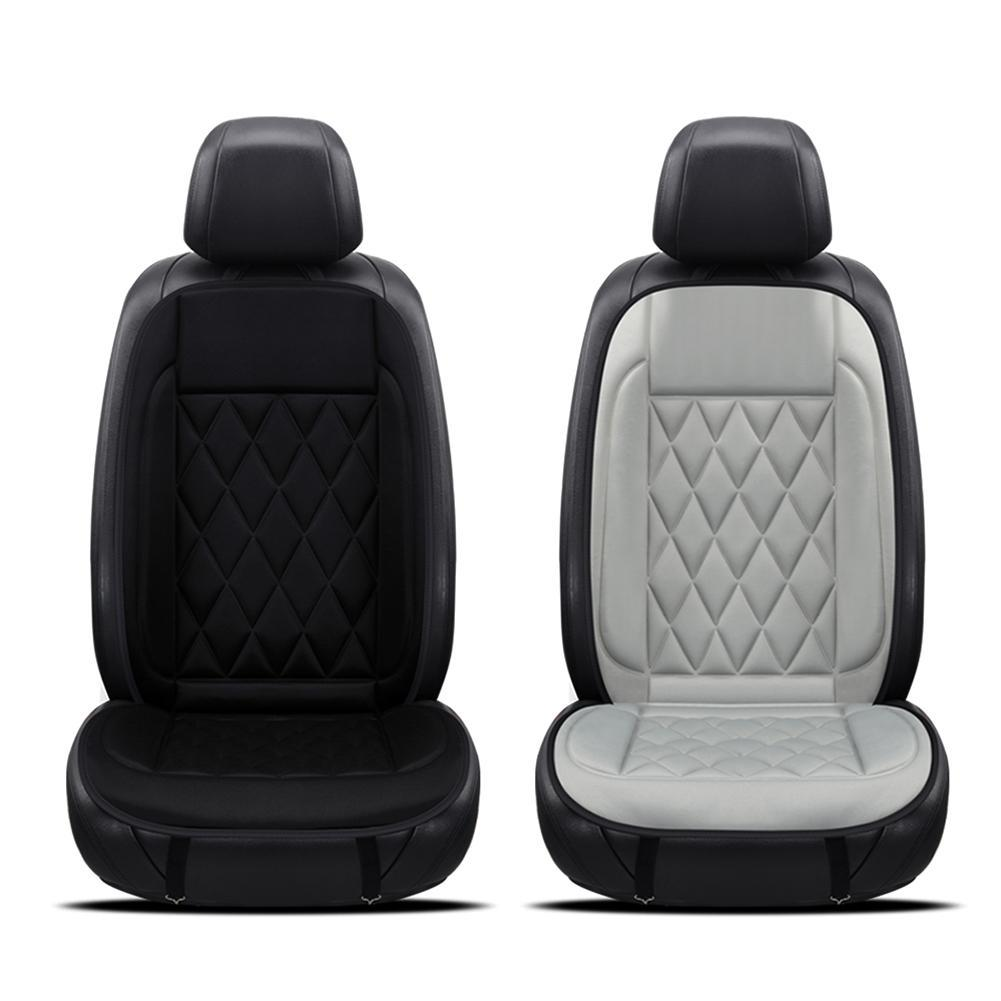 Universal Multifunction 12V Heated Car Seat Cushion Cover Heater Warmer Winter Household Black And Gray Baby For
