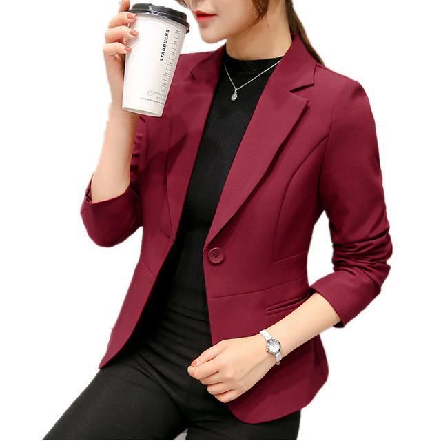 Vino Rojo Chaquetas Blazers Negro Mujer Primavera 2018 Compre Y Twx0qX