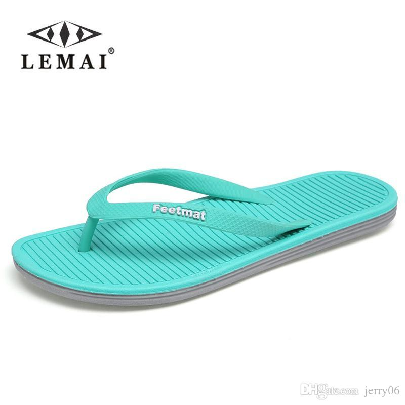 3ab037f513338d Big Size 36 45 Men Sandals New Brand Flip Flops Men Beach Slippers For  Women Summer Shoes Flat Sandals Men Flip Flops 2018 Wedges Shoes Leather  Boots From ...