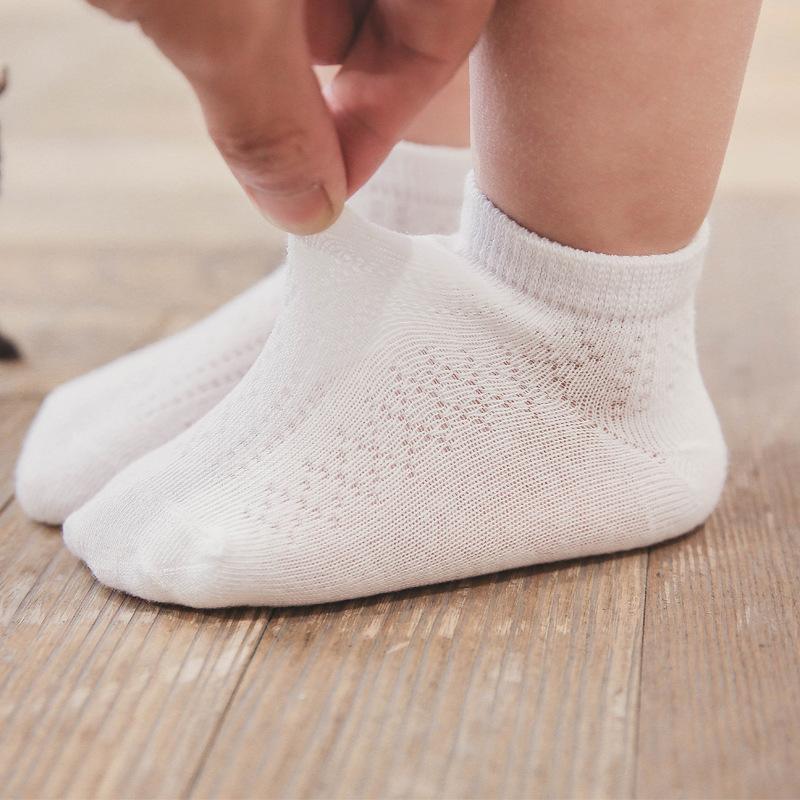 98c34e9e8 Compre 3 Par / Lote 100% Algodón Calcetines De Bebé Neonatal Summer Mesh Algodón  Niños Niñas Niños Calcetines De Los Niños Para 1 10 Año A $36.4 Del Askkit  ...