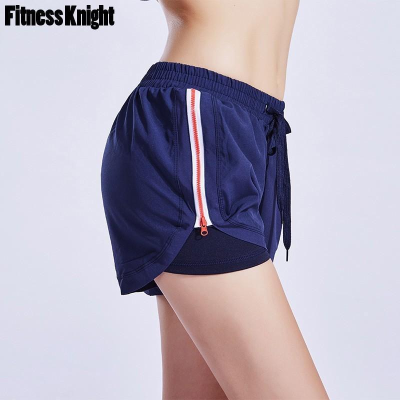 c57c34be01 Compre Pantalones Cortos Para Correr Mujeres Short Sport Corto Yoga Para  Mujer De Secado Rápido Fitness Hollow Out Pantalones Cortos Transpirables  ...