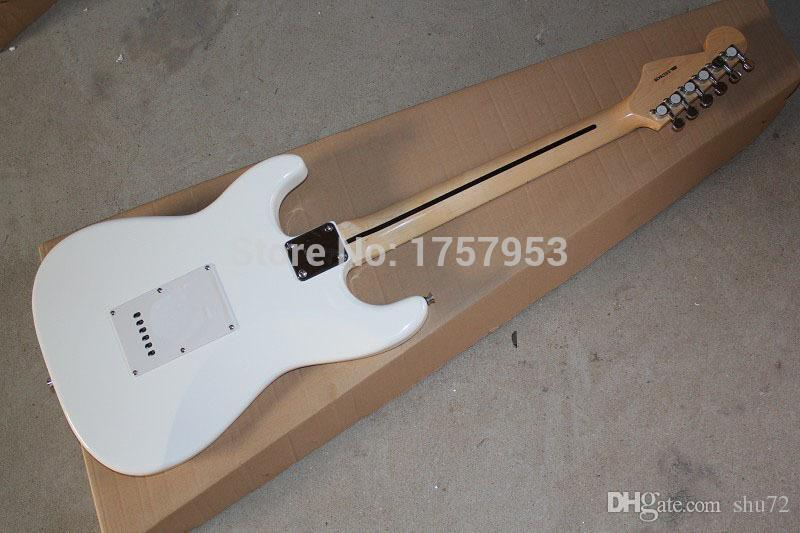 custom guitar factory 2015 New!!! Real photo ST 6 string white Electric guitar ST model 1111 stratocaster