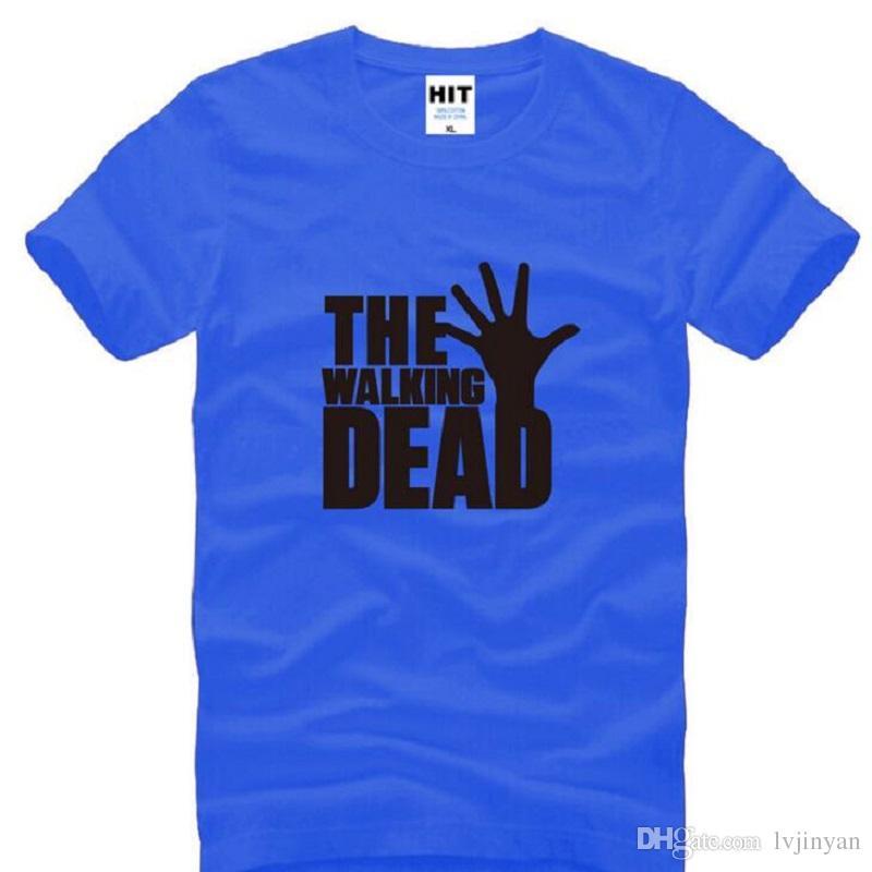 The Walking Dead loose Printed T Shirts Men Summer Style Short Sleeve O-Neck Cotton Men's T-Shirt Fashion US TV Fans Tee Shirt