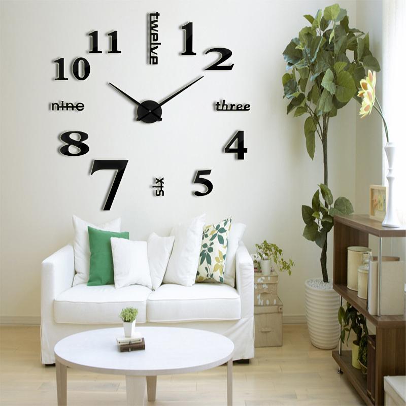 2018 Muhsein New 3d Clock Modern Design Large Diy Acrylic Clock