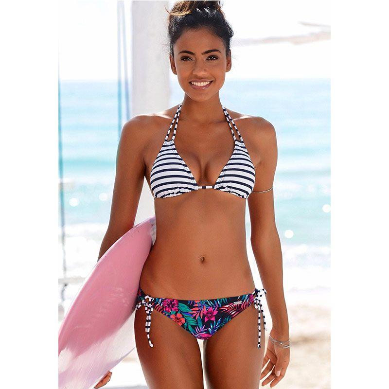 2530316f74 2017 New Sexy Bikini Push Up Swimwear Women Swimsuit Retro Vintage Bikini  Set Beach Plus Size Bathing Suits Swim Wear