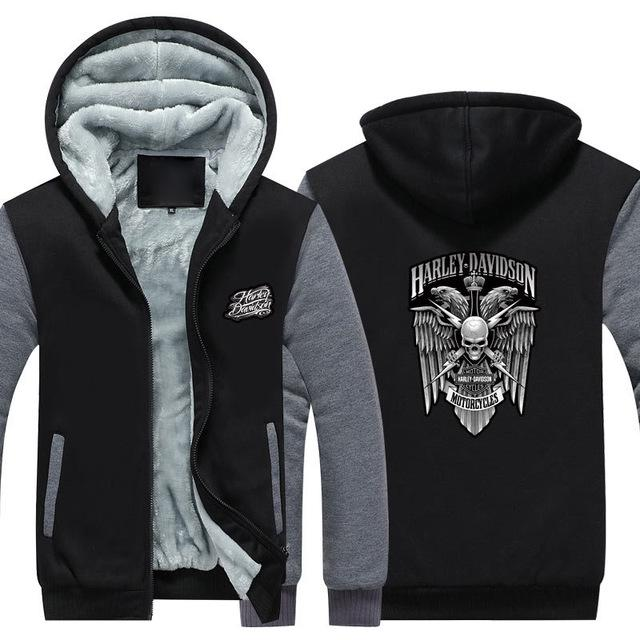 c0e20c46064068 2019 Winter Harley Logo Davidson Men Women Warm Fleet Hoodies Autumn  Clothes Sweatshirts Zipper Jacket Fleece Hoodie USA EU Plus Size From  Wk1403