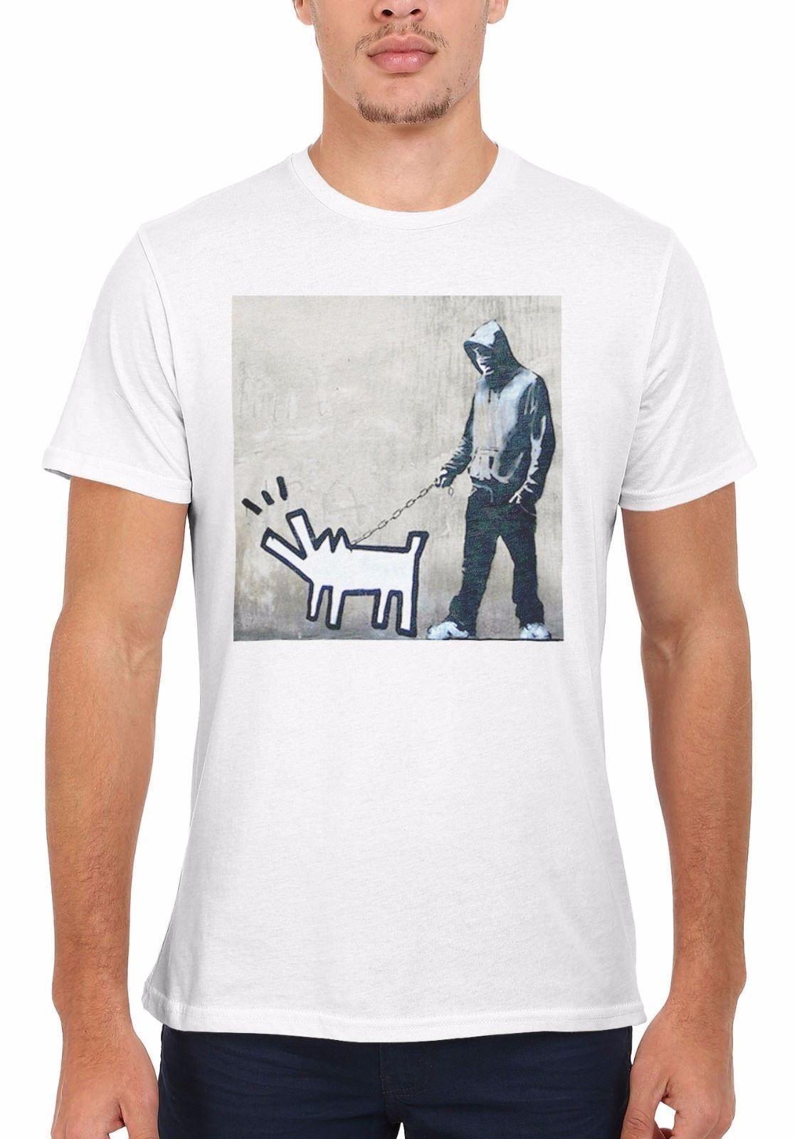 8aa375ae3b Banksy Keith Haring Dog Street Art Men Women Vest Tank Top Unisex T Shirt  1779 Funniest T Shirt Comical T Shirts From Linnan00003