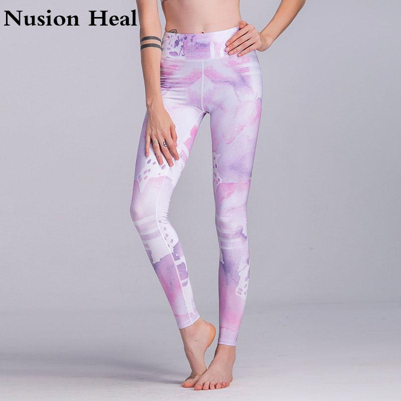 Yoga Pants Women Sexy Red Striped Letter Printing Gym Sport Leggings Tight Fitness Athletic Leggings Sportswear Drop Shipping