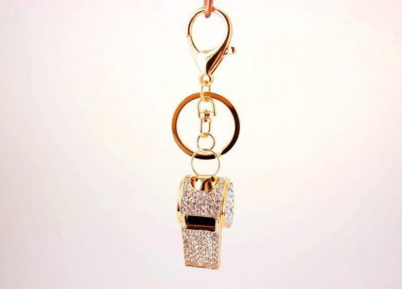Crystal Whistle Keychain Keyring Metal Key Chain Ring Holder Women HandBag  Charm Accessory For Girls Women Purse Phone Chocolate Favors Chocolate  Party ... ae51874a7
