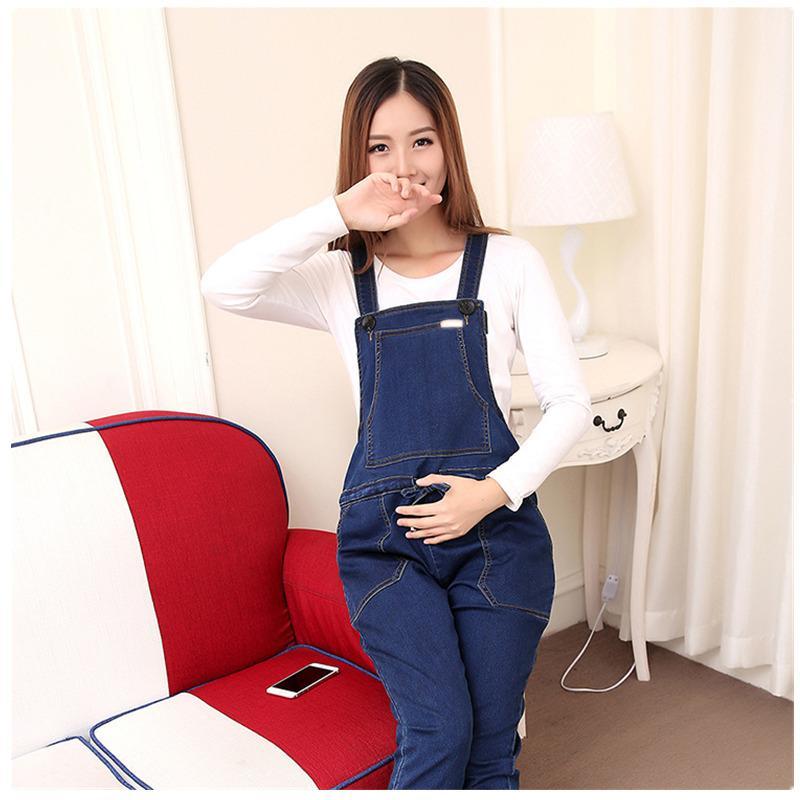 a775ba931917e Female Pants Women's Jeans For Pregnant Women Maternity Overalls Denim  Trousers Autumn Winter Jumpsuit Pregnancy Clothes