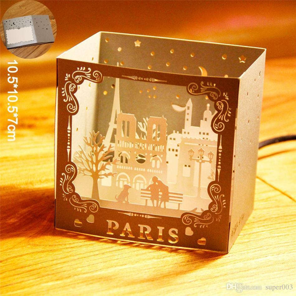 Happy Birthday 3d Pop Up Handmade Paris Postcards Vintage Greeting