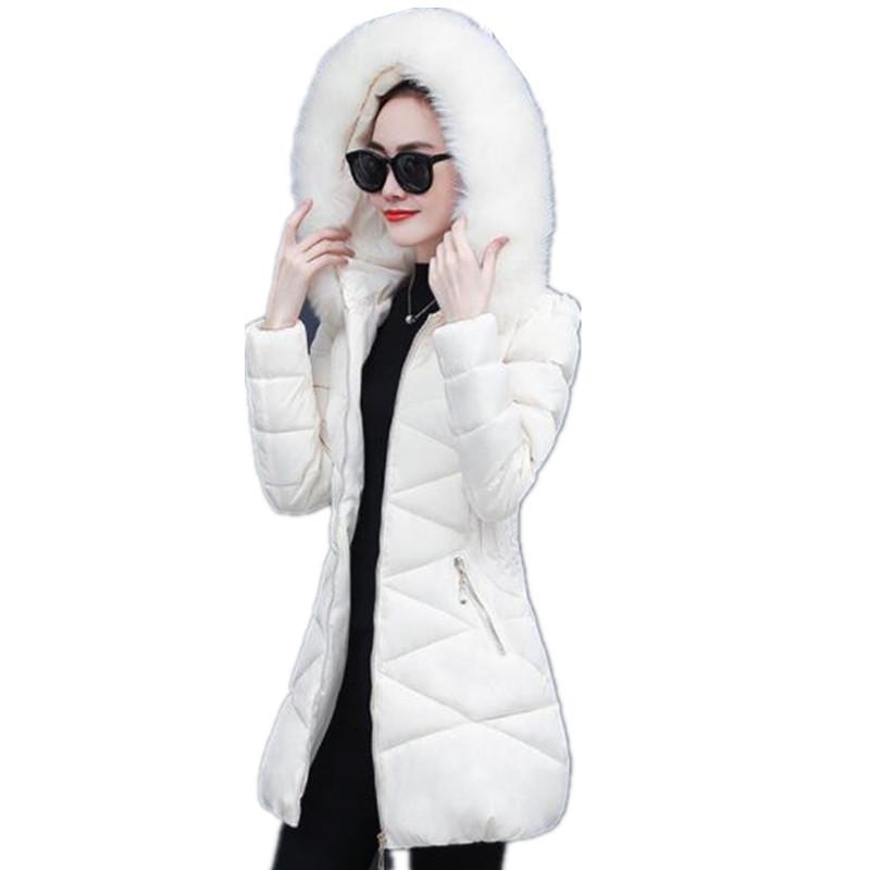 ed9c1131060ed 2019 New Winter Jacket Women Plus Size Womens Parkas Thicken Outerwear  Hooded Winter Coat Female Jacket Cotton Padded Basic Top AS752 C18110601  From ...