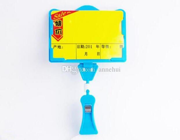 Hot sale POP advertising poster price tag display frame pop vegetable fruit price clip holder for supmarket
