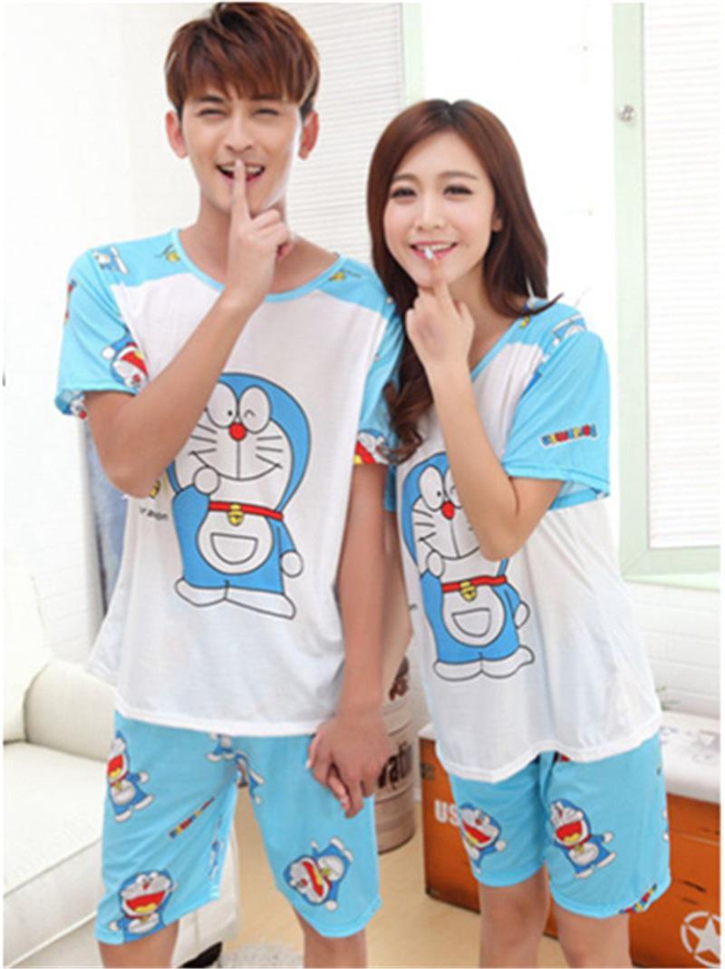 Acheter 2018 New Summer Doraemon Bande Dessinee Amoureux Mignon