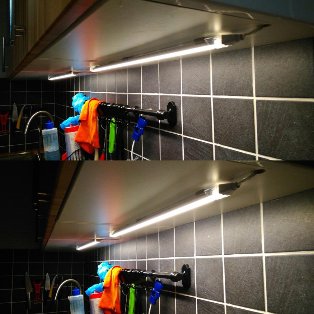2pcs x50CM 24V алюминиевый бесшовный соединительный светодиодный индикатор освещения кухонного шкафа с разъемом постоянного тока 1PCS + адаптер 24V 1A