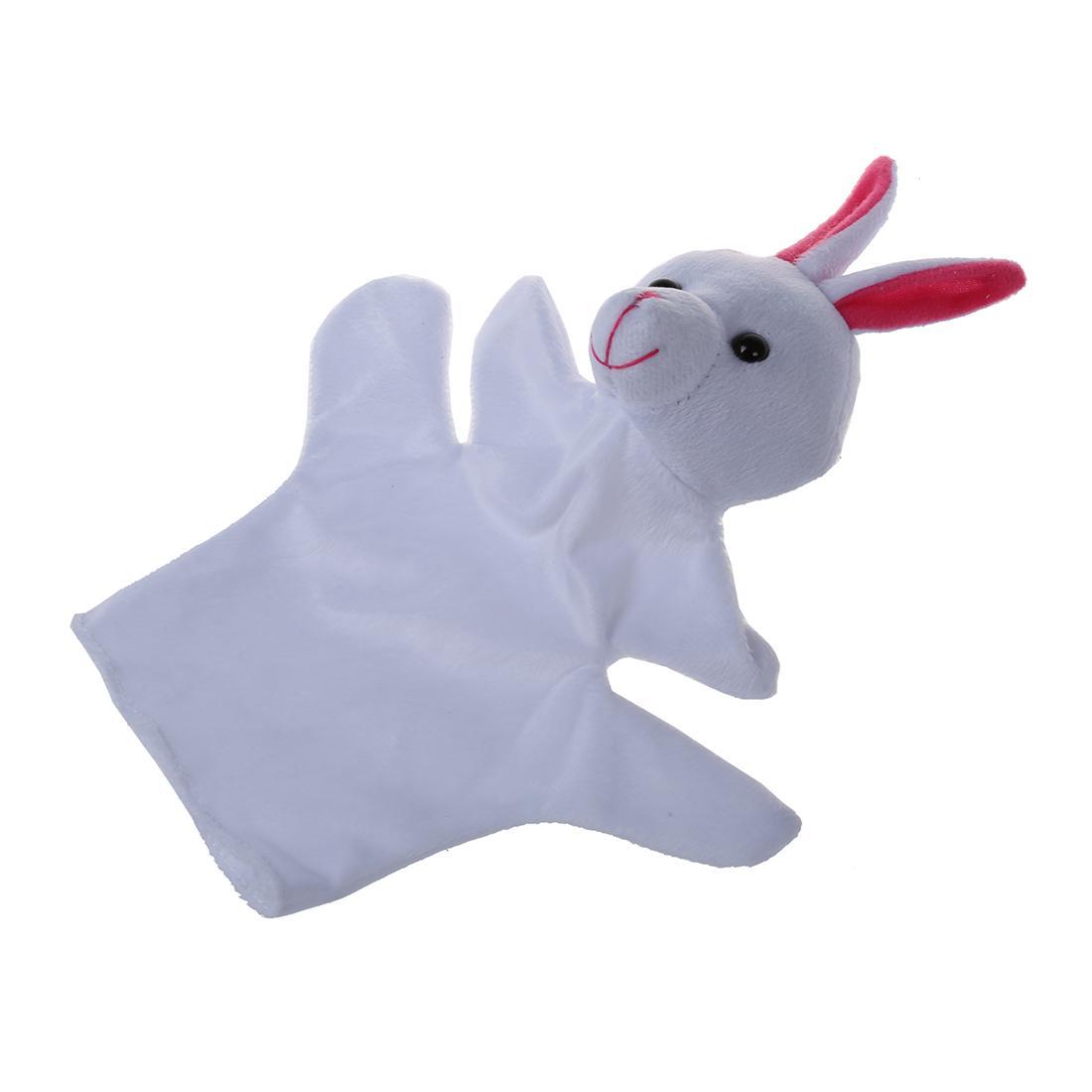 Cute Baby Child Zoo Farm Animal Hand Sock Glove Puppet Finger Sack Plush Toy NewModel:Rabbit