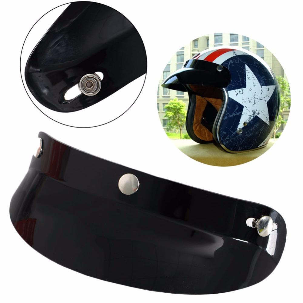 2d34e732 Universal Black Anti UV Anti Fog 3 Snap Visor Face Shield Lens For Motorcycle  Helmets Open Face High Quality C45 Motorcycle Helmet Shields Motorcycle  Helmet ...