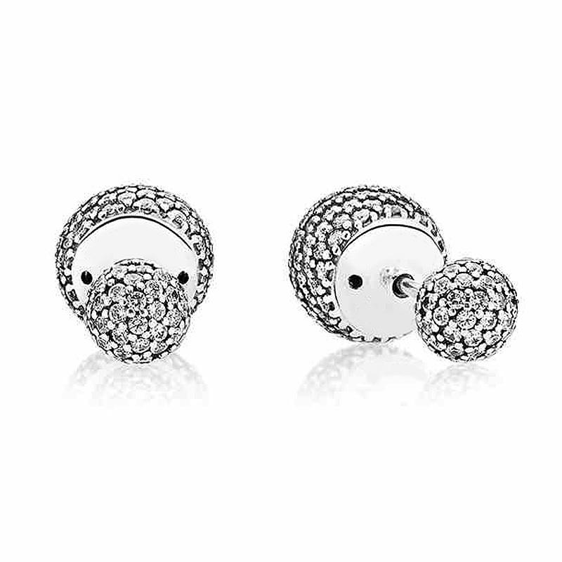 768a5c8c0 Authentic 925 Sterling Silver Earring Pave Drops With Full Crystal ...
