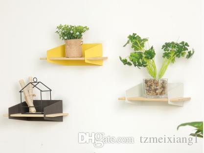 Nordic стиль современный минималистский бытовой кованого железа настенный зеленый завод цветок полки