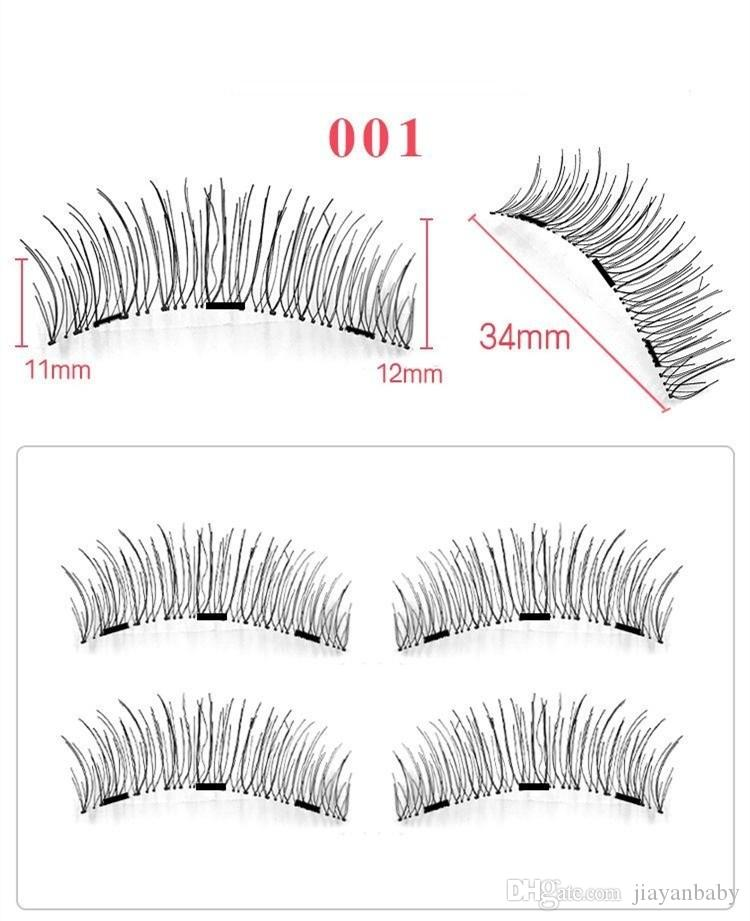 3 Magnet eyelashes Magnetic False Eyelashes Reusable False Eyelashes Extension 3d eyelash extensions DHL Free Shipping