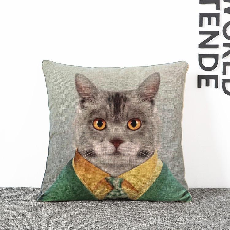 Cartoon Mr Animal Printing Kissenbezug 7 Styles Hund Katze Etc Animal Car Dekorative Dekokissenbezug Kissenbezug