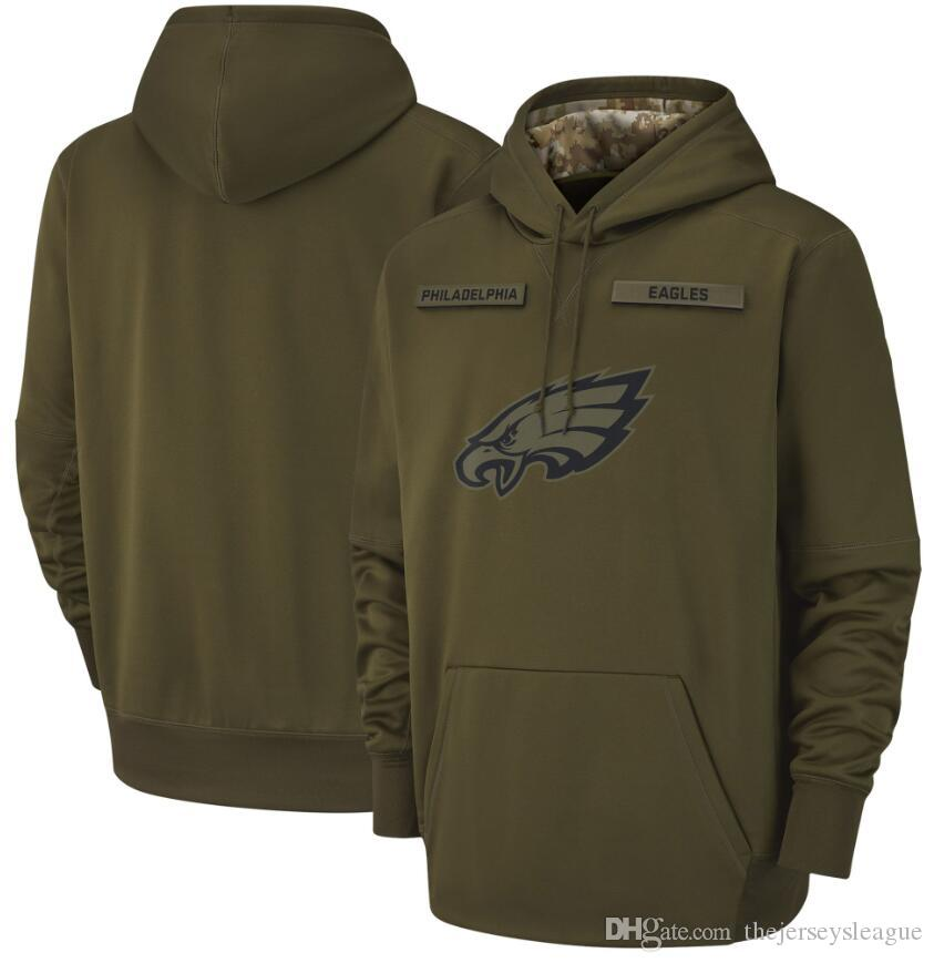 new concept f5edc f3351 salute to service eagles mens hoodie