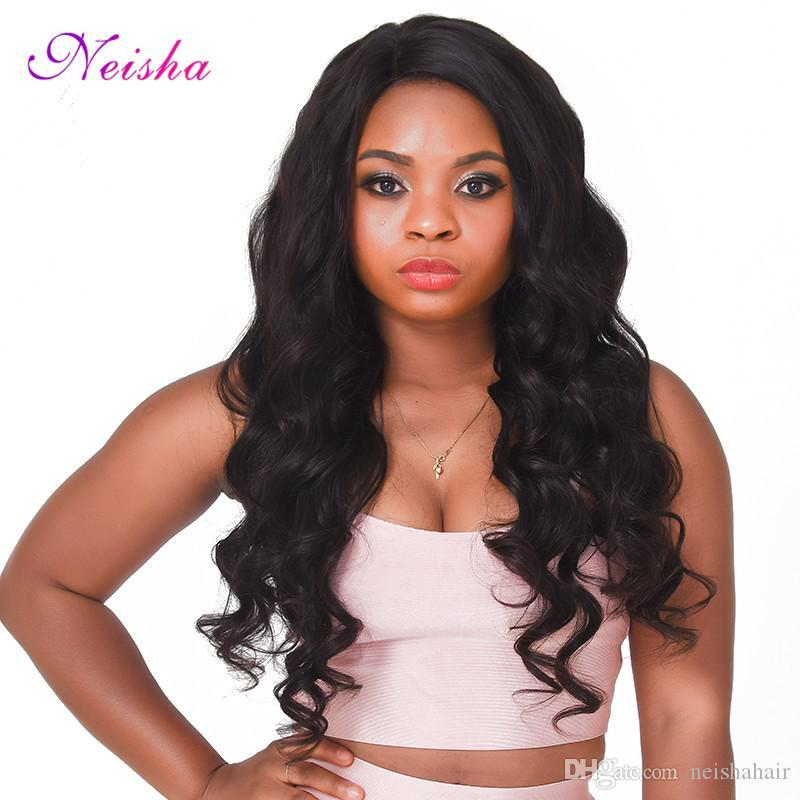 Neisha Brazilian Virgin Hair Body Wave Human Hair Weave Bundles 100