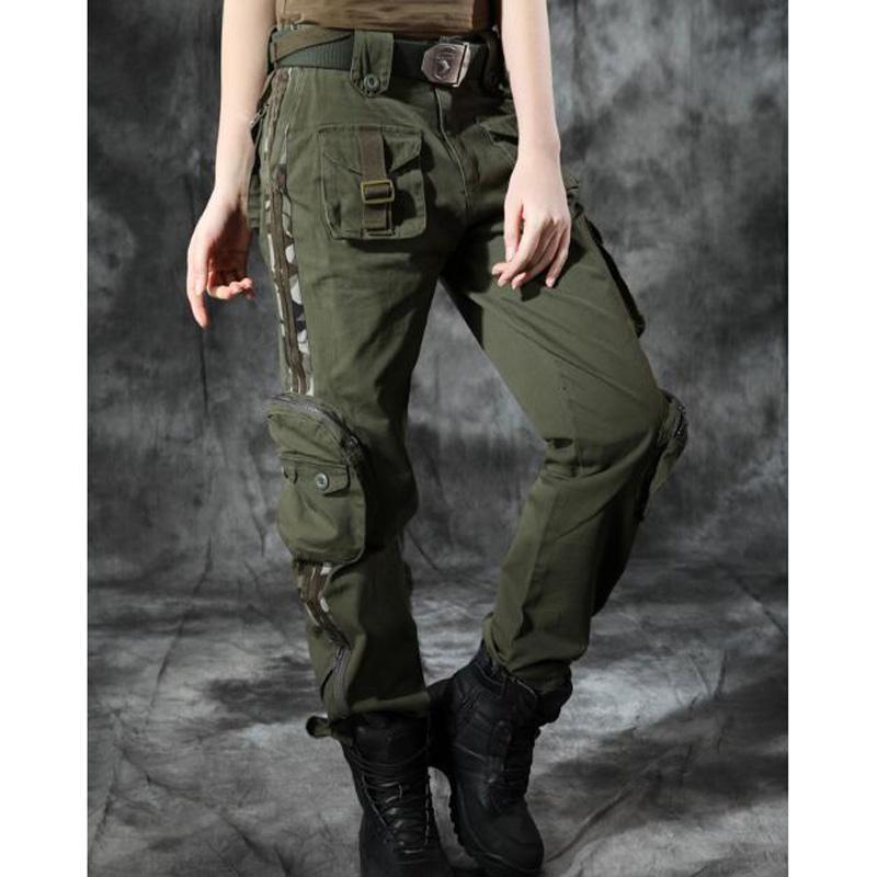 d729dd1b4aae Acquista Pantaloni Cargo Da Donna Taglie Forti Pantaloni Da Ballo Pantaloni  Militari Di Grandi Dimensioni Esercito Militare Pantaloni Mimetici Verdi ...