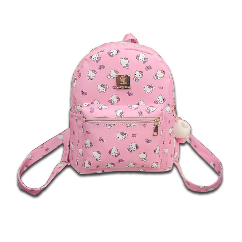Kawaii Cute Hello Kitty Printed Children Girls Backpack Fashionable PU  Leather School Shoulder Bags Rucksack Bags Backpacks For Boys From  Giaogiaoo 00f809db742d4