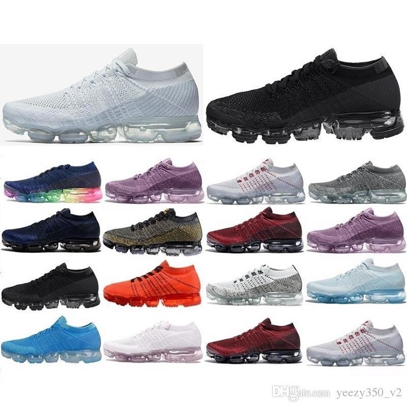 newest 7ad86 01ddf Acheter Nike Air Max Nike Air Vapormax Flyknit Chaussures De Course Pour Air  Hommes Sneakers Femmes Mode Sport Athletic Chaussure De Sport Cors  Randonnée ...