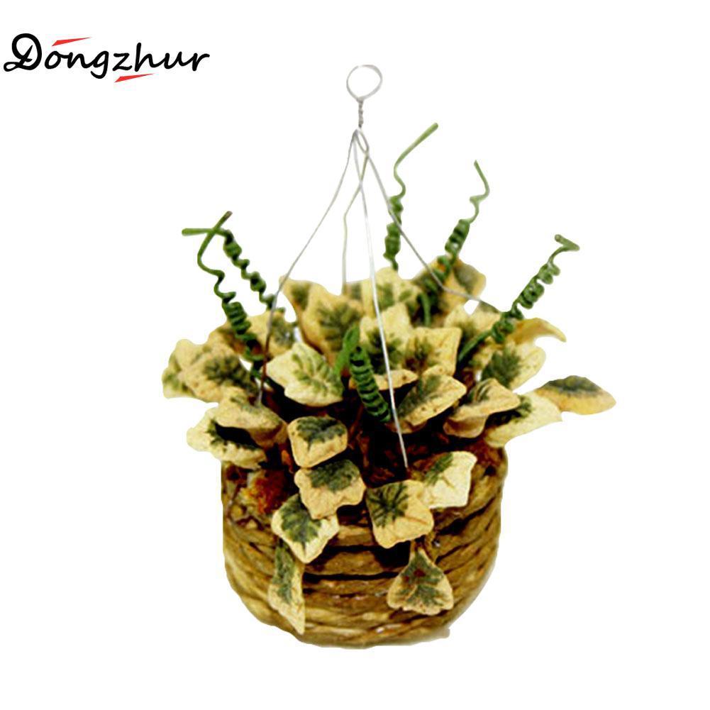 Agreable Acheter Miniature Accessoires Mini Panier De Fleurs Suspendus Simulation  Plantes En Pot Modèle Jouets Décoration Pour 1/12 Dollhouse WWP7167 De  $41.22 Du ...