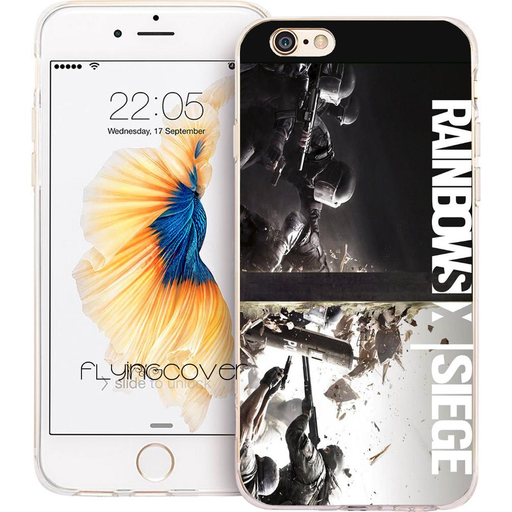 3d171bed61f Rainbow Six Phone Cases For IPhone 10 X 7 8 Plus 5S 5 SE 6 6S Plus 5C 4S 4  IPod Touch 6 5 Clear Soft TPU Silicone Cover.