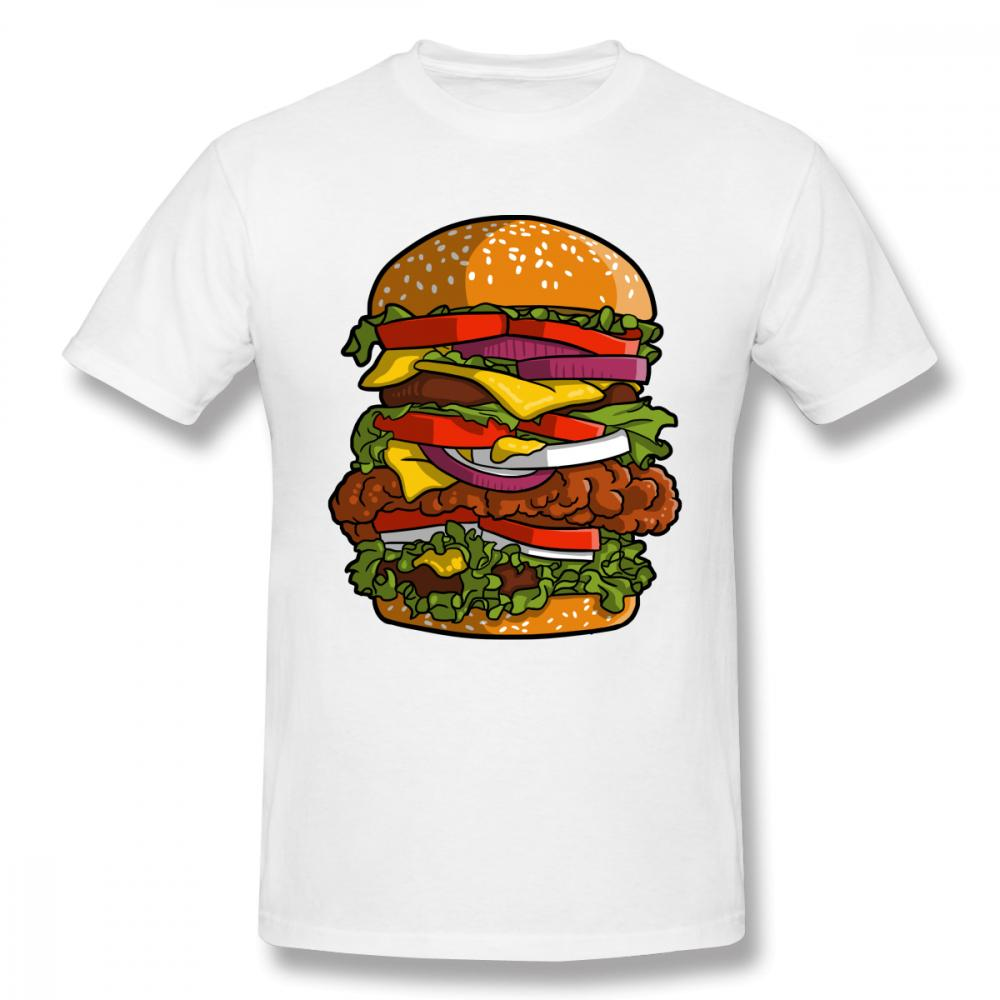 4058abcaa157 Man's Custom Humburger Tee Shirt For Unisex 2018 New Unique Design For Male Round  Collar T Shirt Fashion