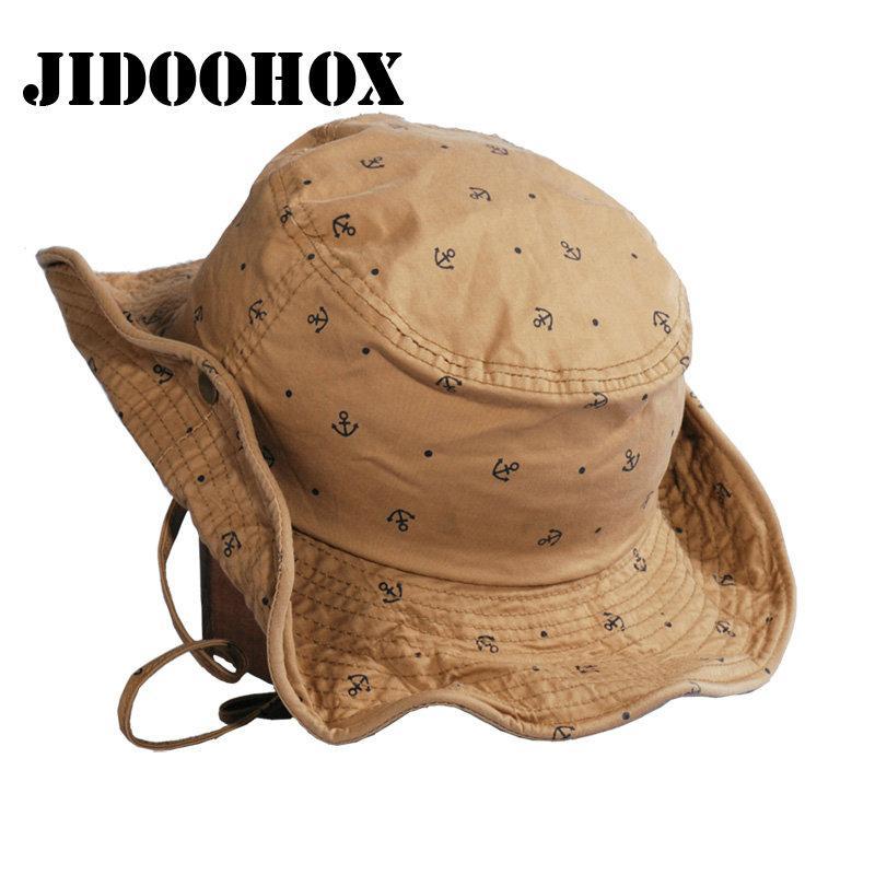509a924811b3b 2019 JIDOOHOX Brands Panama Bucket Hat For Men Women Summer Boonie Hunting  Fishing Fisherman Hat Casual Hiking Travel Sun Cap From Jianpin