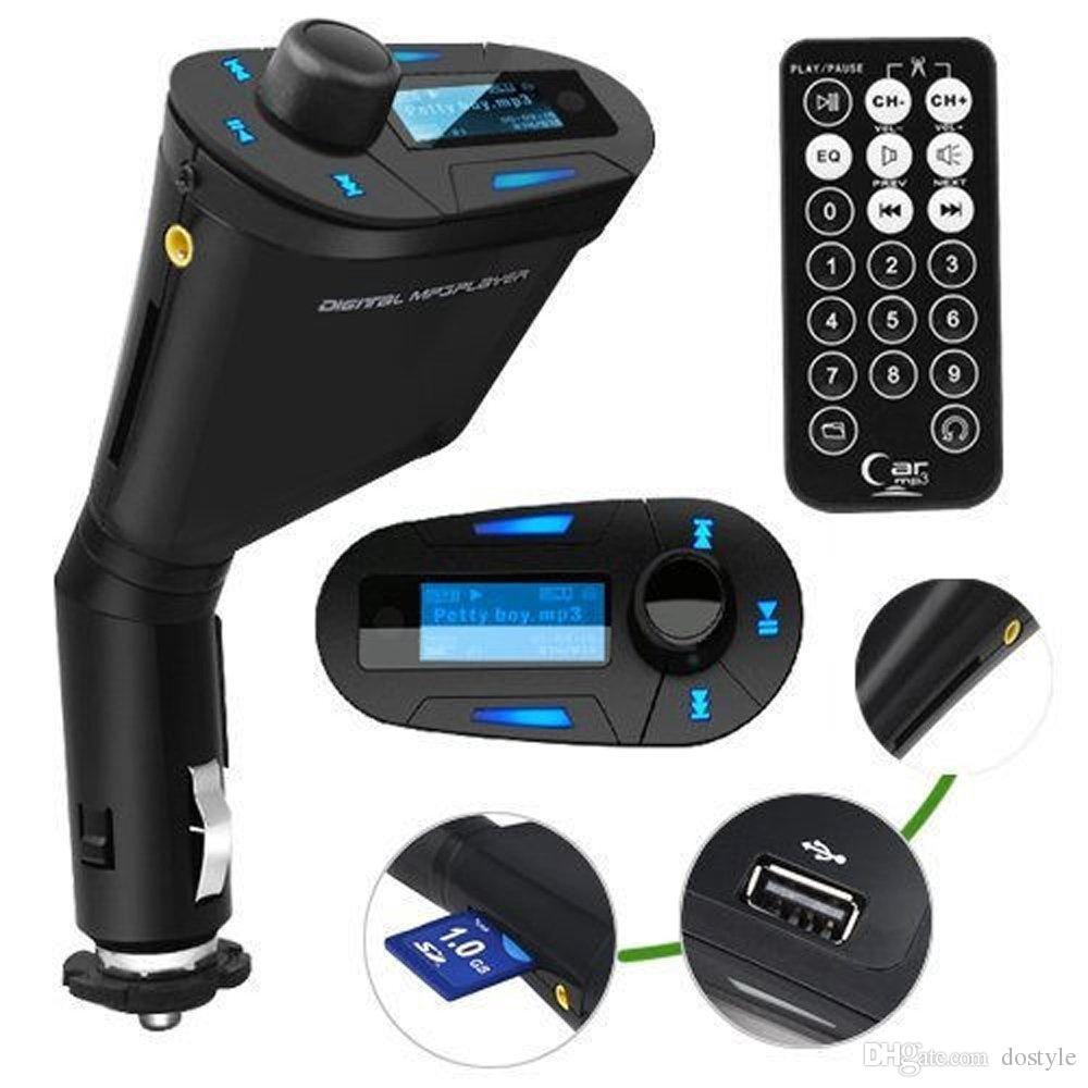 المبيعات الساخنة 3.5 ملليمتر الصوت الأزرق lcd سيارة كيت سيارة مشغل موسيقى mp3 البعيد راديو fm الارسال المغير السيارات راديو + usb sd mmc
