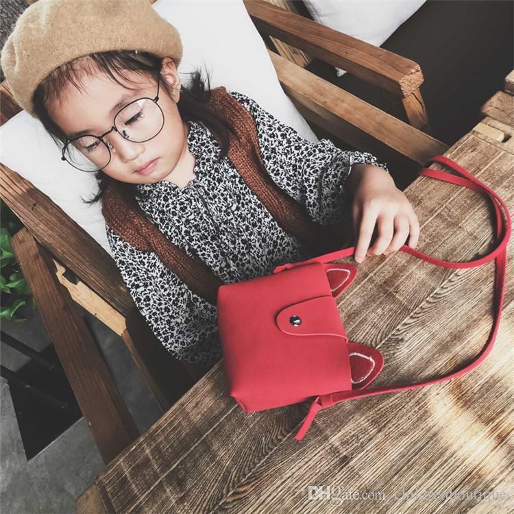 Bebek Çantalar Kızlar Çapraz vücut Çanta 2018 Kore Moda Çocuk Kız Omuz Çantaları Moda Çocuk Karikatür Kedi Mini Çanta Yılbaşı Hediyeleri 8 Renkler